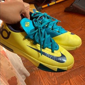 Pre Loved KD Nike yellow and blue GS